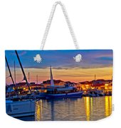 Town Of Vodice Harbor And Monument Weekender Tote Bag