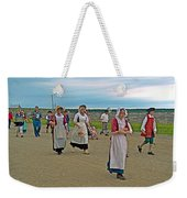 Townsfolk On Main Street In Louisbourg Living History Museum-174 Weekender Tote Bag