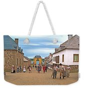 Townsfolk On Street To The Sea In Louisbourg Living History Museum-174 Weekender Tote Bag