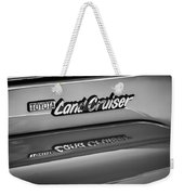 Toyota Land Cruiser Emblem -0581bw Weekender Tote Bag