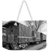 Tpw Rr Caboose Black And White Weekender Tote Bag