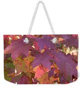 Traces Of Fall Weekender Tote Bag