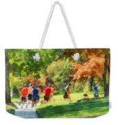 Track Team Weekender Tote Bag by Susan Savad