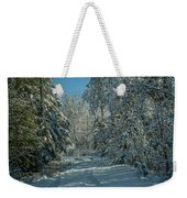 Tracks In The Snow Weekender Tote Bag