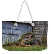 Tractor And Barn On Cloudy Day Weekender Tote Bag