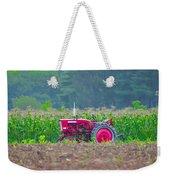 Tractor In A Corn Field Weekender Tote Bag