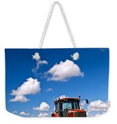 Tractor In Plowed Field Weekender Tote Bag by Elena Elisseeva