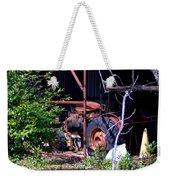 Tractor In Shed Weekender Tote Bag