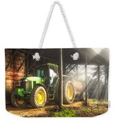 Tractor In The Morning Weekender Tote Bag