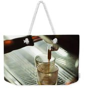 Traditional Espresso Coffee And Machine  Weekender Tote Bag