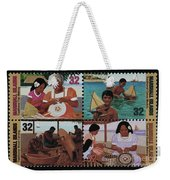 Traditional Pacific Handicrafts Postage Stamp Print Weekender Tote Bag