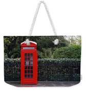 Traditional Red Telephone Box In London Weekender Tote Bag