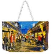 Traditional Shopping Area Weekender Tote Bag