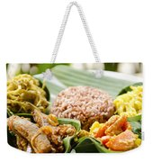 Traditional Vegetarian Curry With Rice In Bali Indonesia Weekender Tote Bag