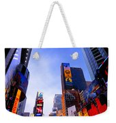 Traffic Cop In Times Square New York City Weekender Tote Bag