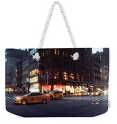 Traffic On The Street At Night, 23rd Weekender Tote Bag