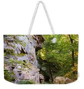 Trail Beside The Cliff Wildcat Den State Park Weekender Tote Bag