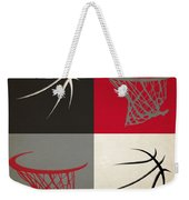 Trail Blazers Ball And Hoop Weekender Tote Bag