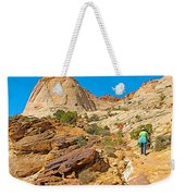Trail Up To The Tanks From Capitol Gorge Pioneer Trail In Capitol Reef National Park-utah Weekender Tote Bag