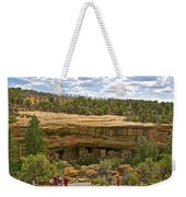 Trail View Of Spruce Tree House On Chapin Mesa In Mesa Verde National Park-colorado Weekender Tote Bag