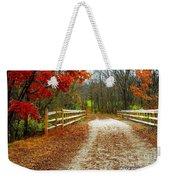Trailing In Autumn Weekender Tote Bag