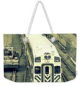 Train Approaching Weekender Tote Bag
