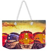 Train Art At Union Station Weekender Tote Bag