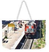 Train At Delhi Station Weekender Tote Bag
