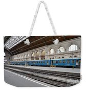 Train At Station Platform Budapest Hungary Weekender Tote Bag