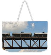 Train Cars On The Bridge Weekender Tote Bag