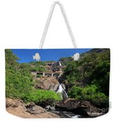 Train Crossing Dudhsagar Falls Weekender Tote Bag