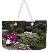 Train Garden And Girl Weekender Tote Bag