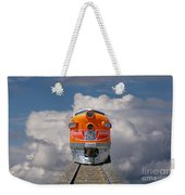 Train In Clouds Weekender Tote Bag