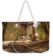 Train Memories Weekender Tote Bag by Debra and Dave Vanderlaan