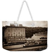 Train Passes Station Square Pittsburgh Antique Look Weekender Tote Bag