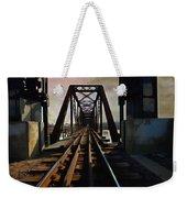 Train Rail Bridge  Weekender Tote Bag