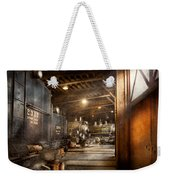 Train - Ready In The Roundhouse Weekender Tote Bag by Mike Savad