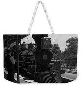 Train Ride Magic Kingdom Black And White Weekender Tote Bag