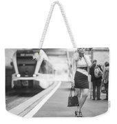 Train Station - Waiting Weekender Tote Bag