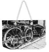 Train - Steam Engine Wheels - Black And White Weekender Tote Bag