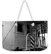 Train - The Caboose - Black And White Weekender Tote Bag