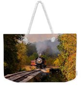 Train Through The Valley Weekender Tote Bag by Robert Frederick