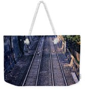 Train Tracks Into Town Weekender Tote Bag