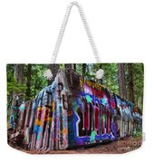 Train Wreck Art In The Forest Weekender Tote Bag