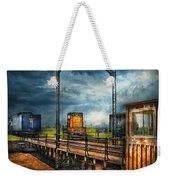 Train - Yard - On The Turntable Weekender Tote Bag