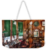 Train - Yard - The Stationmasters Office  Weekender Tote Bag