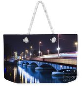 Tram Over A Bridge Weekender Tote Bag