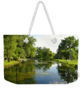 Tranquil - Digital Painting Effect Weekender Tote Bag by Rhonda Barrett