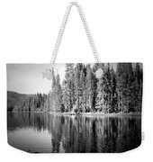 Tranquil Reflection In B And W Weekender Tote Bag