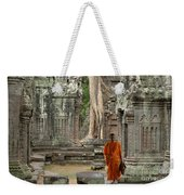 Tranquility In Angkor Wat Cambodia Weekender Tote Bag